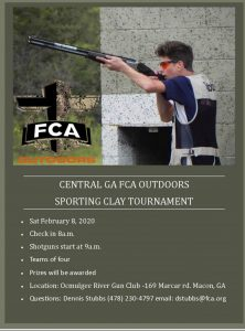 Central GA FCA Outdoors Sporting Clay Tournament